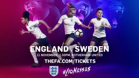 England Women v Sweden - Sunday 11th November - 1.30pm - Tickets  on sale now